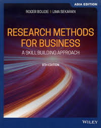 Research Methods For Business : A Skill Building Approach